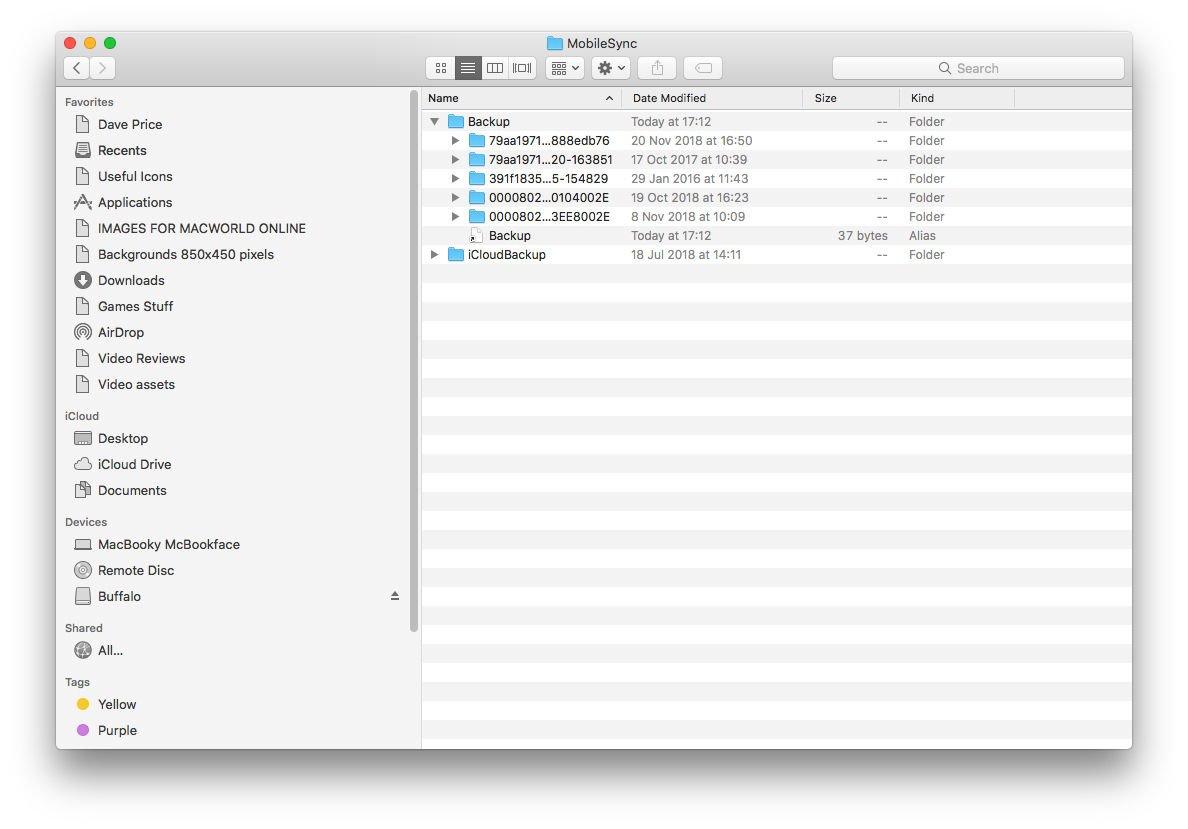 Cómo hacer una copia de seguridad de iPhone o iPad en un disco duro externo: carpeta Biblioteca