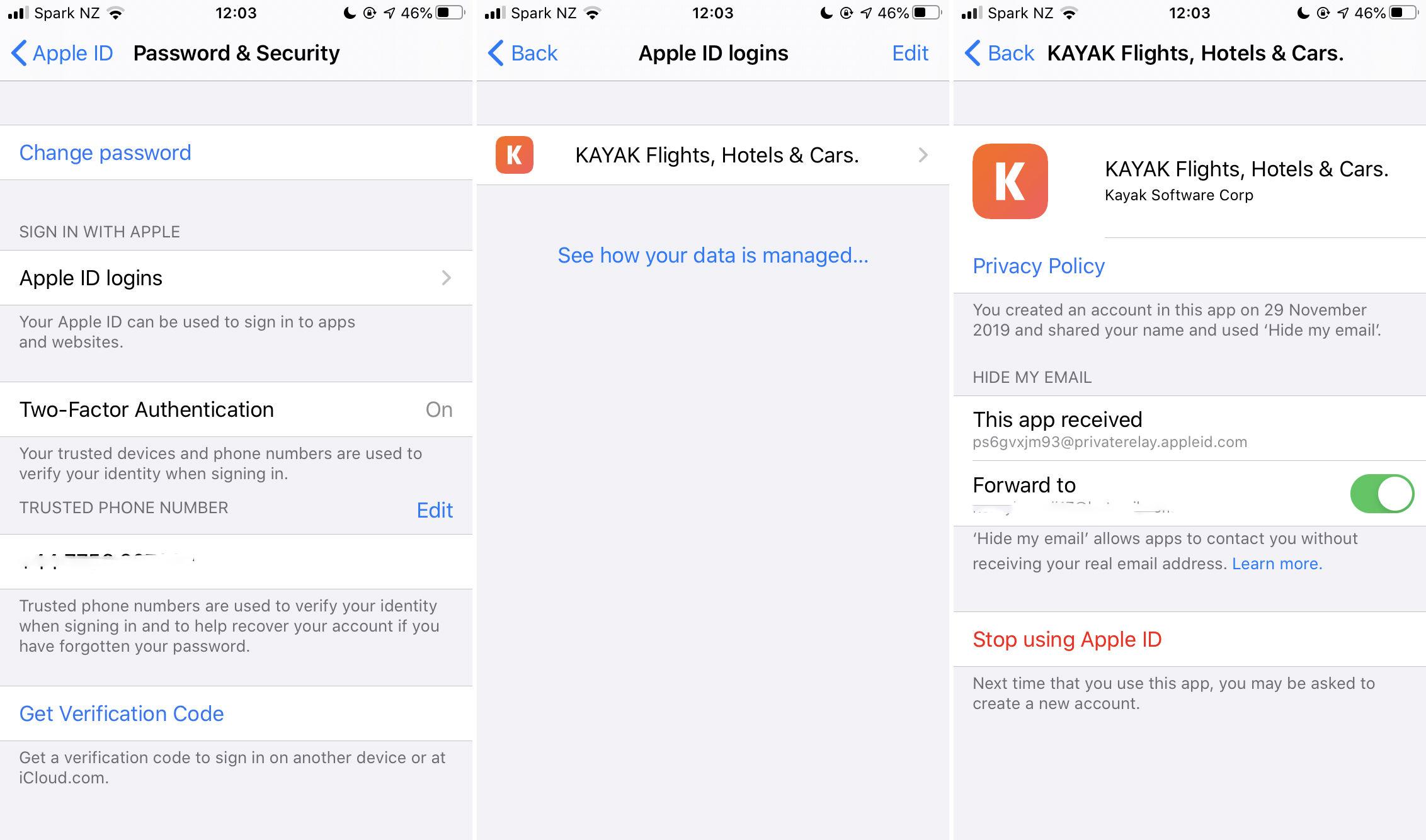 Cómo ver qué aplicaciones están usando Iniciar sesión con Apple