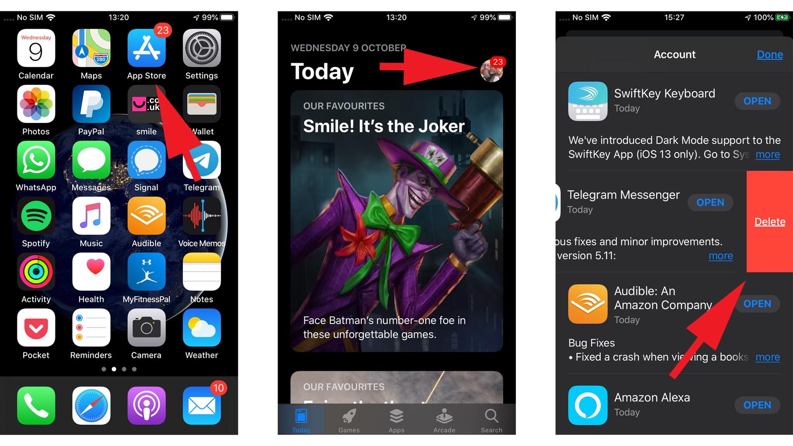 Cómo eliminar aplicaciones en iPhone y iPad: actualización de iOS 13