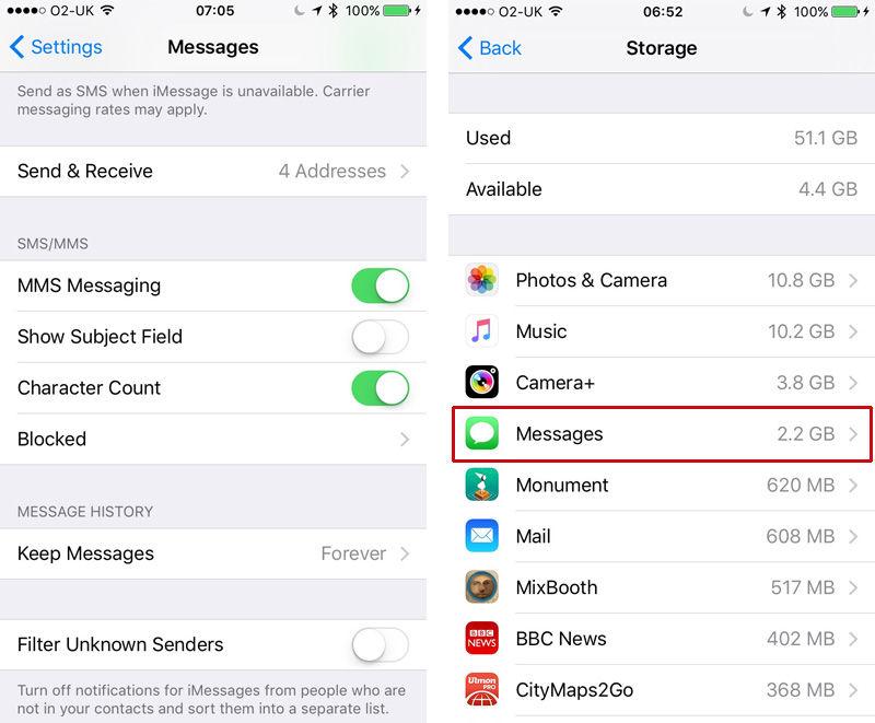 Cómo eliminar todos los mensajes antiguos del iPhone: Configuración