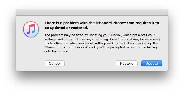 Cómo omitir un código de acceso olvidado en iPhone o iPad: alerta de modo de recuperación