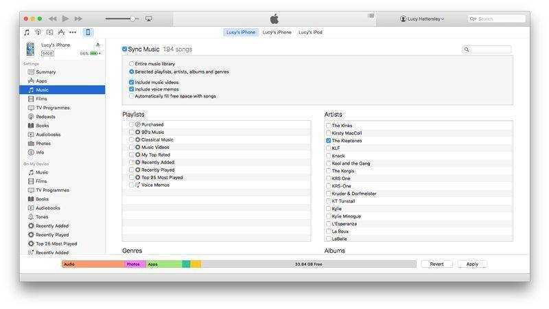 iTunes sincronizar música iPhone