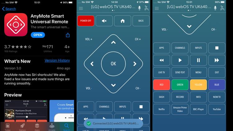 Cómo usar el iPhone como control remoto de TV