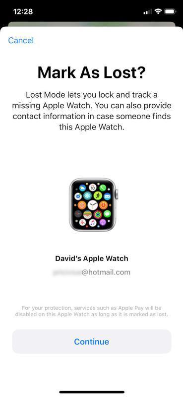 Cómo encontrar un Apple Watch perdido: modo perdido