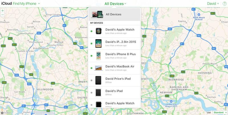 Cómo encontrar un Apple Watch perdido: Encuentra mi iPhone en Mac