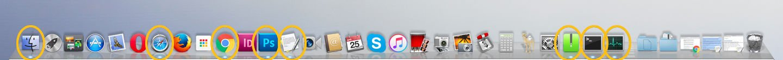 Cómo ver aplicaciones abiertas en Mac: Dock