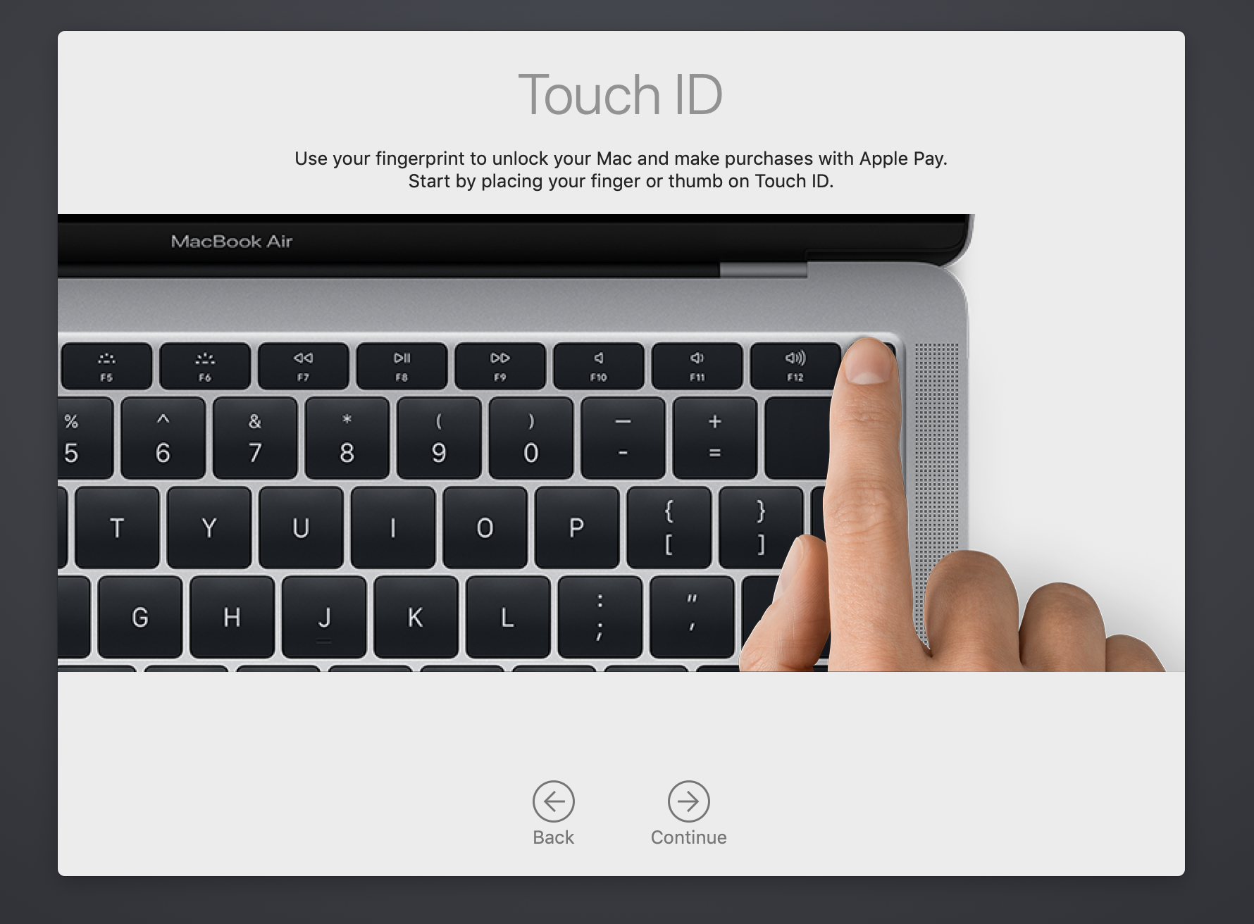 Configurar Touch ID