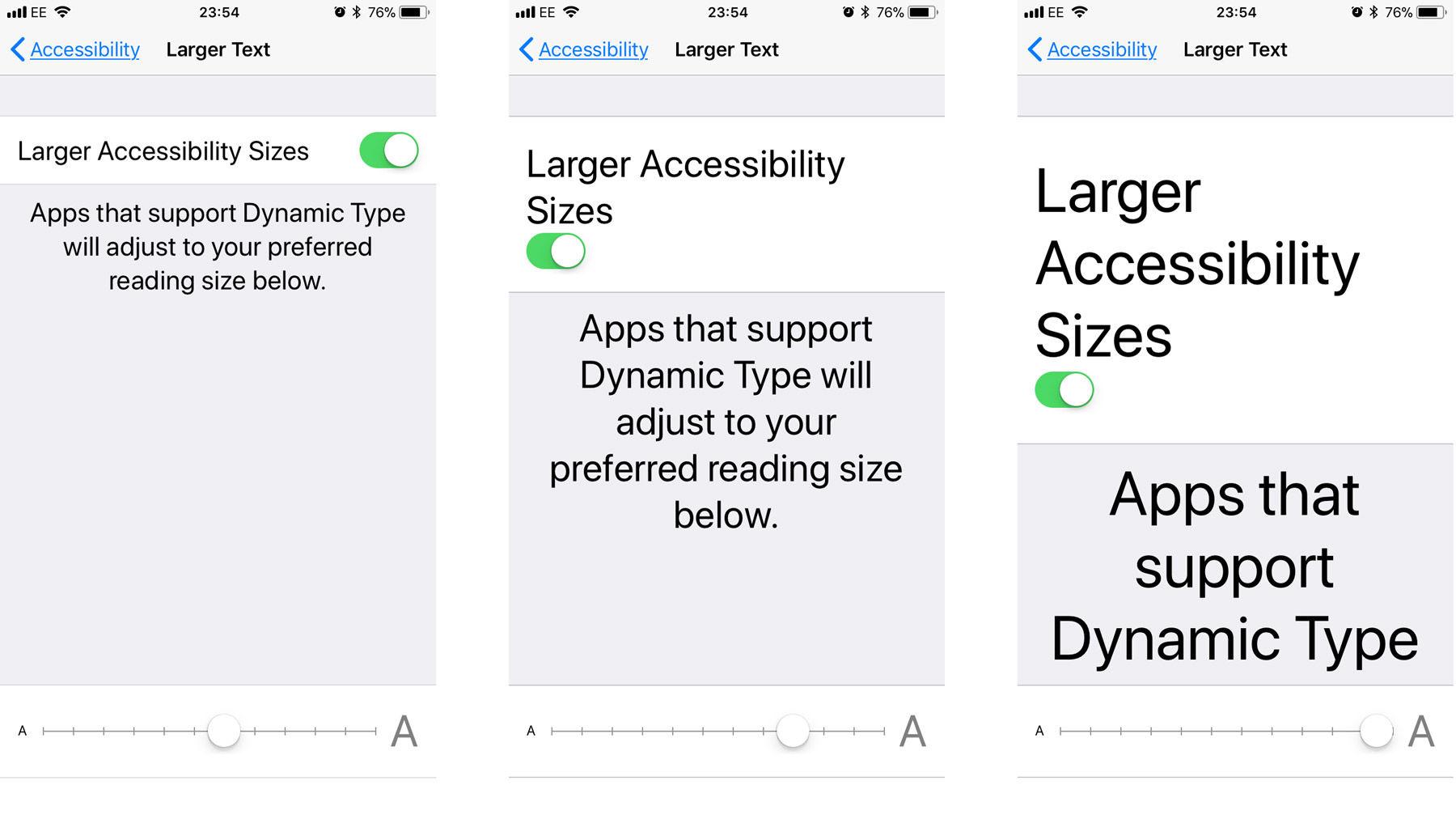 cómo agrandar el texto en el iphone