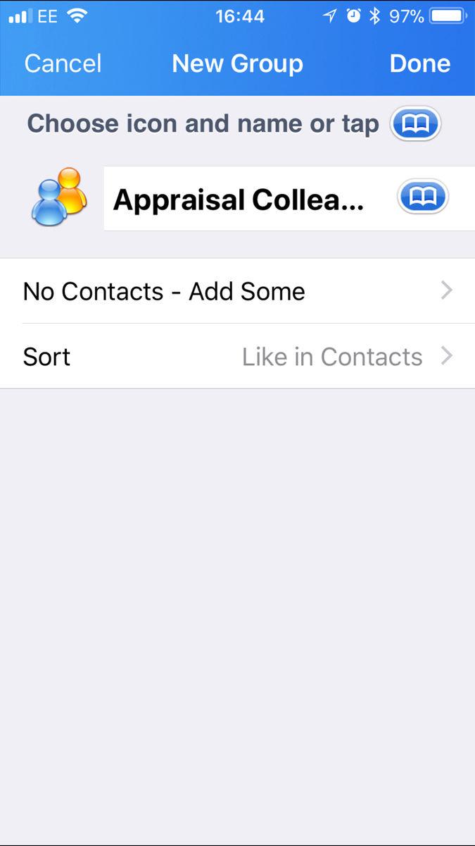 Cómo configurar un grupo de contactos en iPhone o iPad: aplicación Grupos