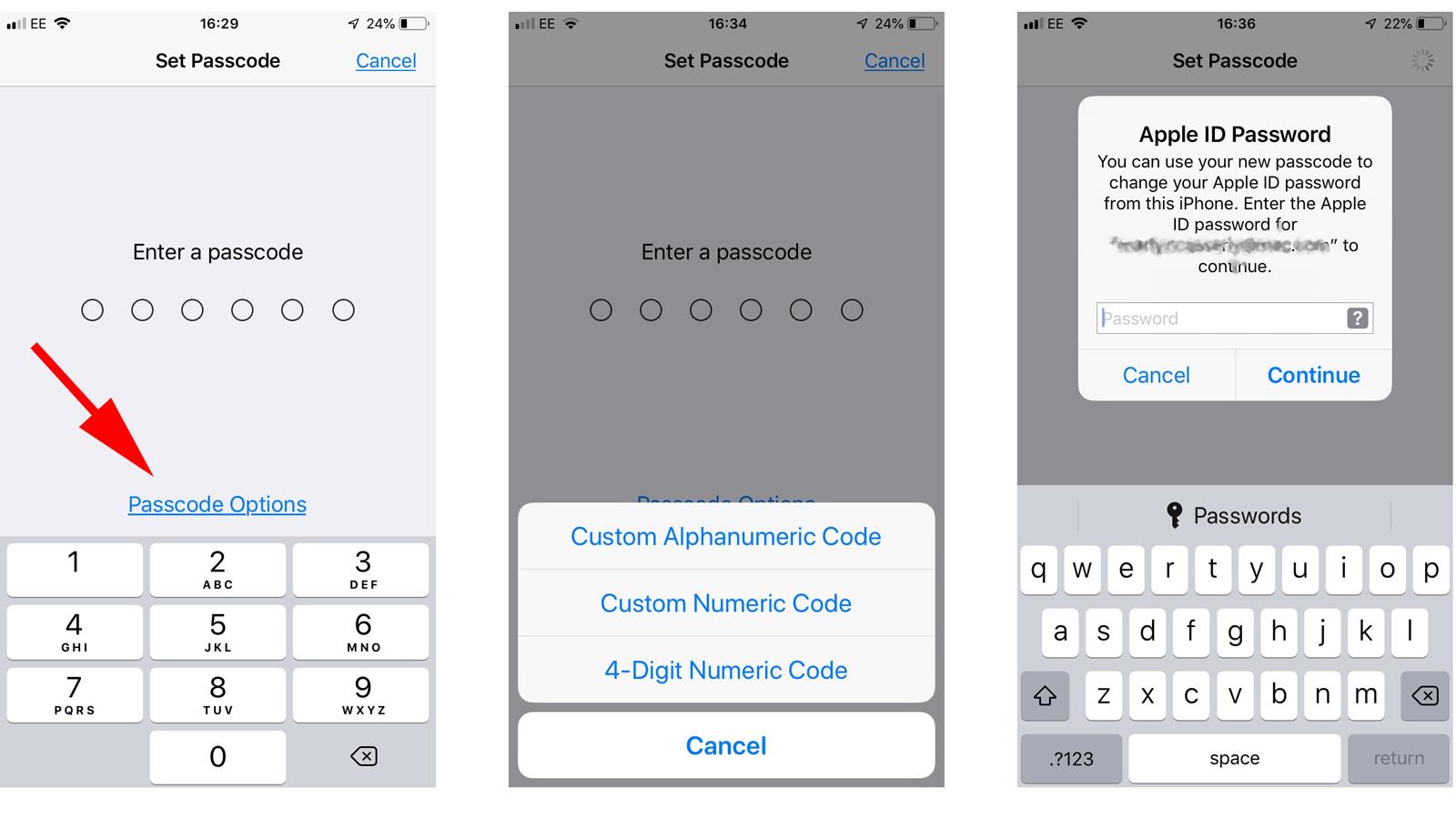 Cómo configurar un código de acceso en iPhone: Opciones de código de acceso