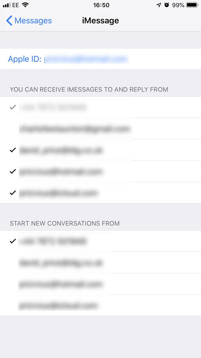 Cómo evitar que las llamadas, los mensajes de texto y los iMessages se envíen a iPhones antiguos: Cerrar sesión