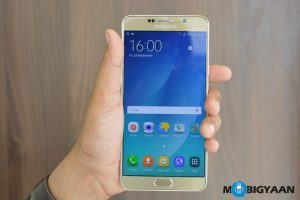 Samsung Galaxy Note5 recibe el parche de seguridad de julio en India