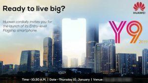 Lanzamiento de Huawei Y9 2019 India pospuesto, ahora lanzamiento el 10 de enero