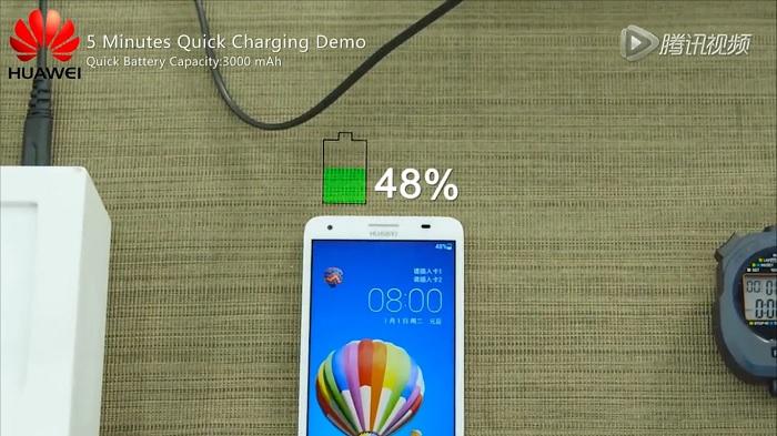 demostración-de-carga-rápida-de-cinco-minutos-de-Huawei