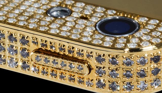 iPhone-5-6 con incrustaciones de oro y diamantes