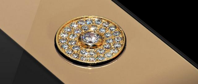 iPhone-5-8 con incrustaciones de oro y diamantes