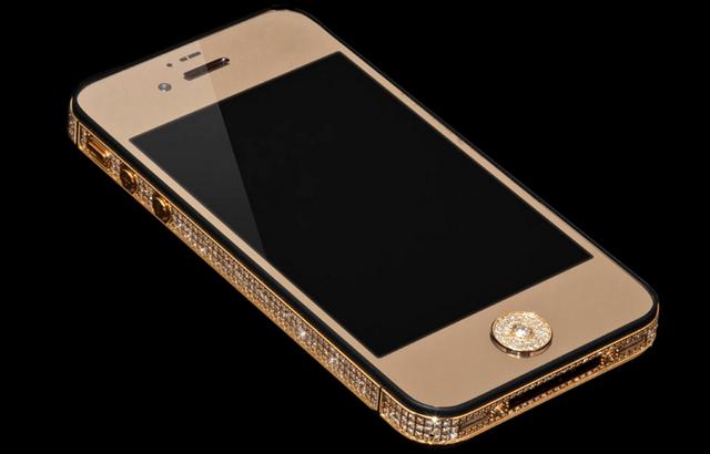iPhone-5-1 con incrustaciones de oro y diamantes