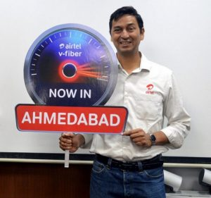 Airtel lanza el servicio V-Fiber con velocidad de 100 Mbps en Ahmedabad