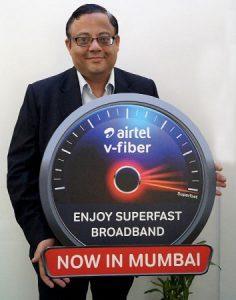 Airtel lanza el servicio V-Fiber con velocidad de 100 Mbps en Mumbai