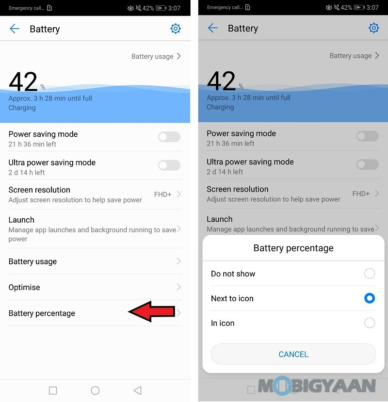 Huawei-P20-Lite-Display-Battery-Percentage-2