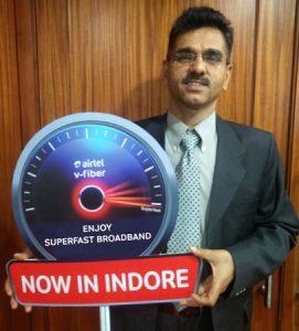 Airtel lanza el servicio V-Fiber con velocidad de 100 Mbps en Indore
