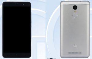 Xiaomi Redmi Note 2 Pro certificado en TENAA;  Cuerpo de metal y escáner de huellas dactilares confirmados