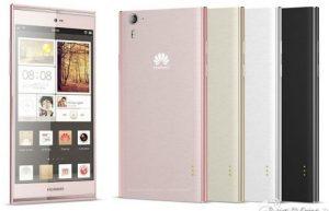 Lanzamiento de Huawei Ascend P7 en el MWC;  viene en una gama de colores
