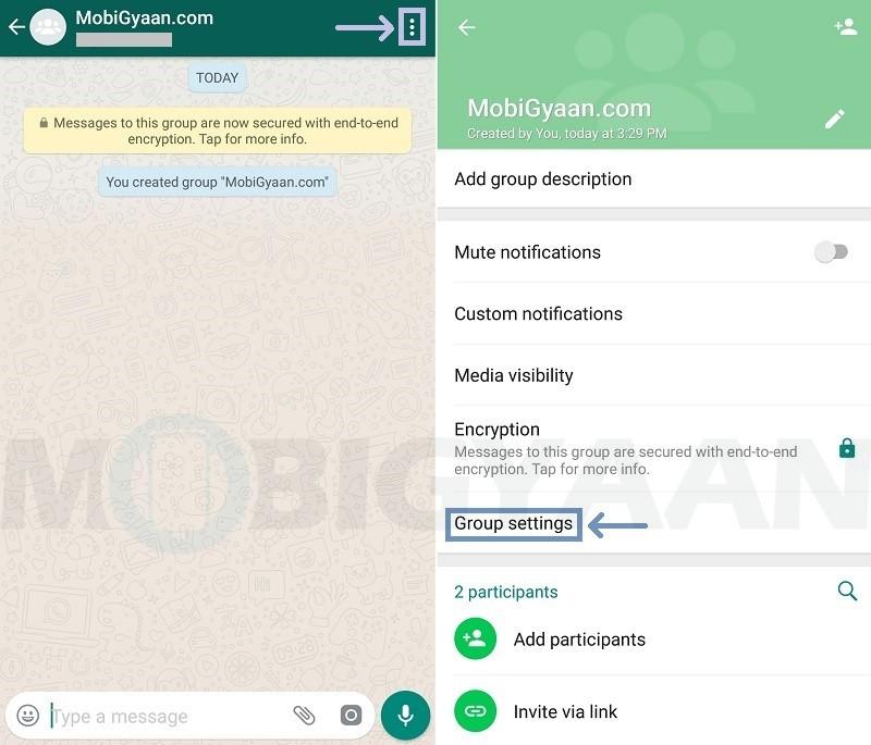 evitar que los miembros cambien la información del grupo de whatsapp guía de android 2