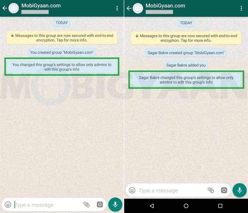 evitar que los miembros cambien la información del grupo de whatsapp guía de android 4