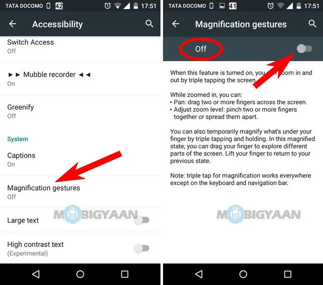 Cómo hacer zoom en toda la pantalla en Android 5