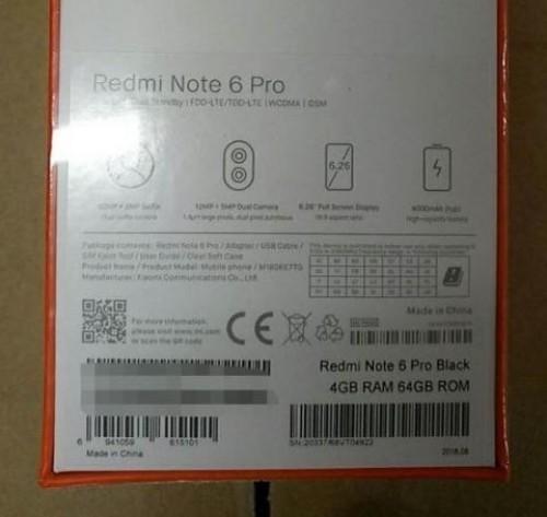 Xiaomi-Redmi-Note-6-Pro-especificaciones-reveladas-por-imágenes-filtradas-características-cámaras-cuádruples
