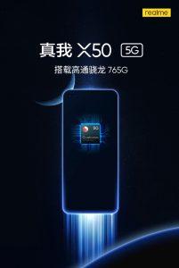 Se confirma que el teléfono inteligente Realme X50 5G incluye Snapdragon 765G SoC