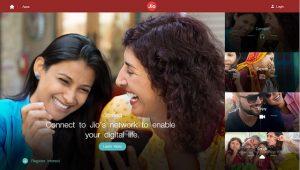 El sitio web oficial de Reliance Jio se pone en marcha