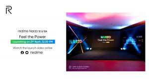 Realme Narzo 10 y 10A se lanzarán en India el 21 de abril
