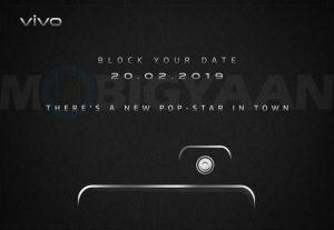 Vivo lanzará un nuevo teléfono inteligente en India el 20 de febrero con una cámara selfie emergente