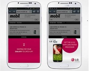LG se burla de los teléfonos Apple 'pequeños' y los teléfonos Samsung 'lentos' en sus nuevos anuncios