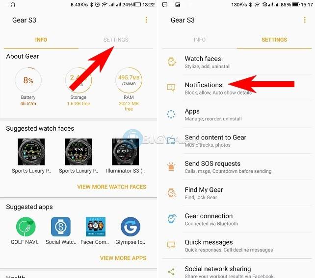 Cómo-bloquear-notificaciones-por-aplicación-en-Samsung-Gear-S3-smartwatch-Guide-2