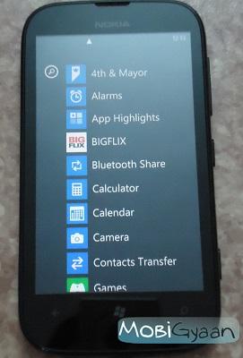 Aplicación Nokia Lumia 510