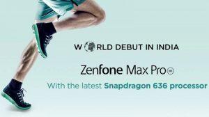 ASUS ZenFone Max Pro con Snapdragon 636 SoC se lanzará en India el 23 de abril