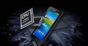 Samsung Galaxy Tab E (7.0) con procesador de cuatro núcleos visto en el sitio web de Samsung