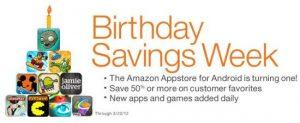 Amazon Appstore celebra su primer aniversario, descuentos en abundancia