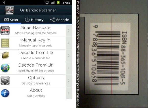 escáner de código de barras qr