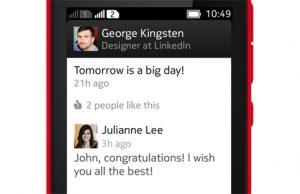Lanzamiento de la aplicación LinkedIn para la serie Nokia Asha