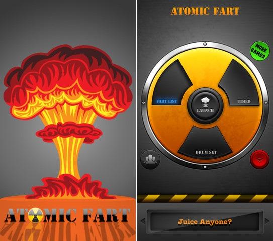 Aplicación para iPhone Atomic Fart