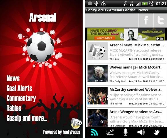 Aplicación Arsenal