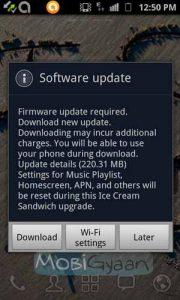 Actualización de Android 4.0 ICS para Galaxy S II que se implementa en India