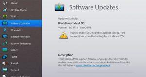 Actualización del sistema operativo v1.0.7.3312 disponible para BlackBerry PlayBook