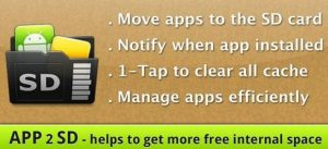 Administre sus aplicaciones de Android en su teléfono inteligente con la aplicación 2 SD