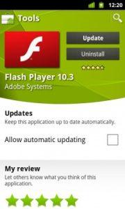 Adobe Flash Player para Android se actualiza a la versión 10.3.186.3
