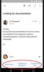 Ahora deja que Inbox by Gmail te responda con la función de respuesta inteligente